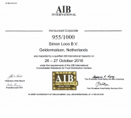 Certificaat - AIB International 2017