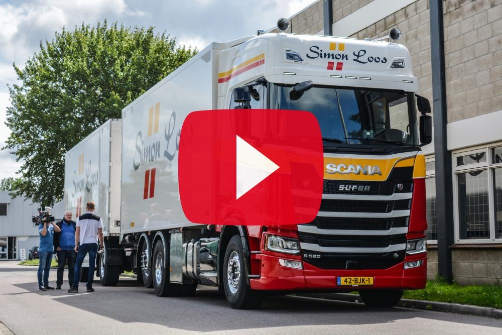 Simon Loos en Scania in de hoofdrol bij RTL Transportwereld
