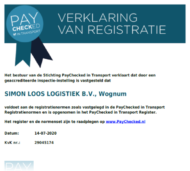 Certificaat - PayChecked