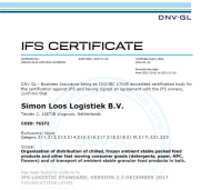Certificaat - IFS Logistics